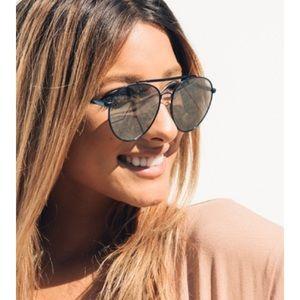 Quay • Blue Aviator Sunglasses